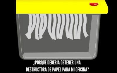 ¿Para qué sirven las destructoras de papel?