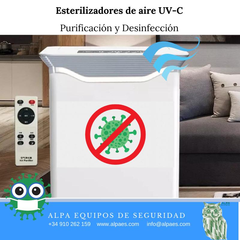 Esterilizadores de aire UV-C- ALPA equipos de Seguridad