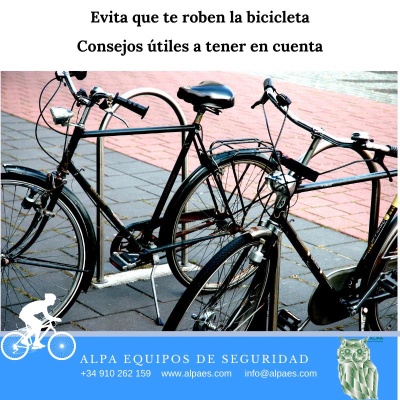 Evita que te roben la bicicleta - Alpa Equipos de Seguridad