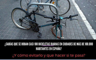 ¿Sabías que se roban casi 100 bicicletas diarias en ciudades de más de 100.000 habitantes en España?