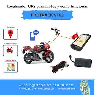 Localizador para motos PROTRACK VT02 Localizador GPS para motos y cómo funcionan